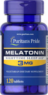 Puritan's Pride Melatonin 3mg 120Tablets