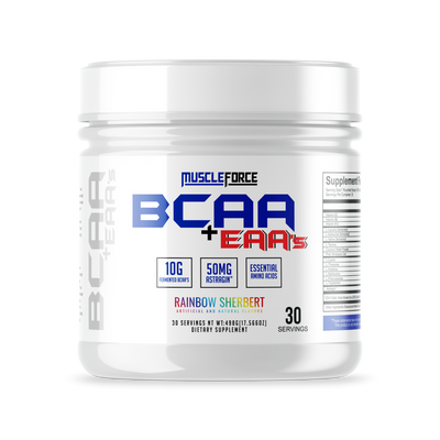 MuscleForce Bcaa+Eaa's Rainbow Sherbet
