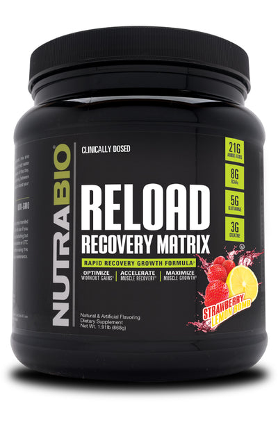 nutrabio Reload Recovery Matrix Strawberry Lemonade