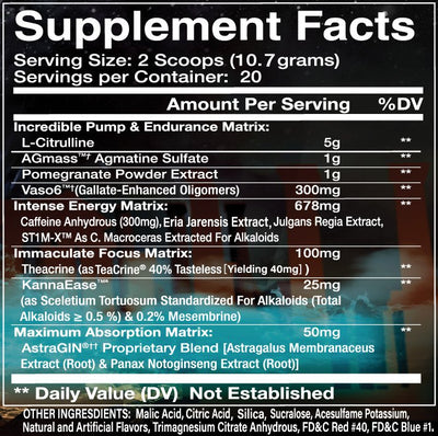 I am Suprem3 Supplement Facts