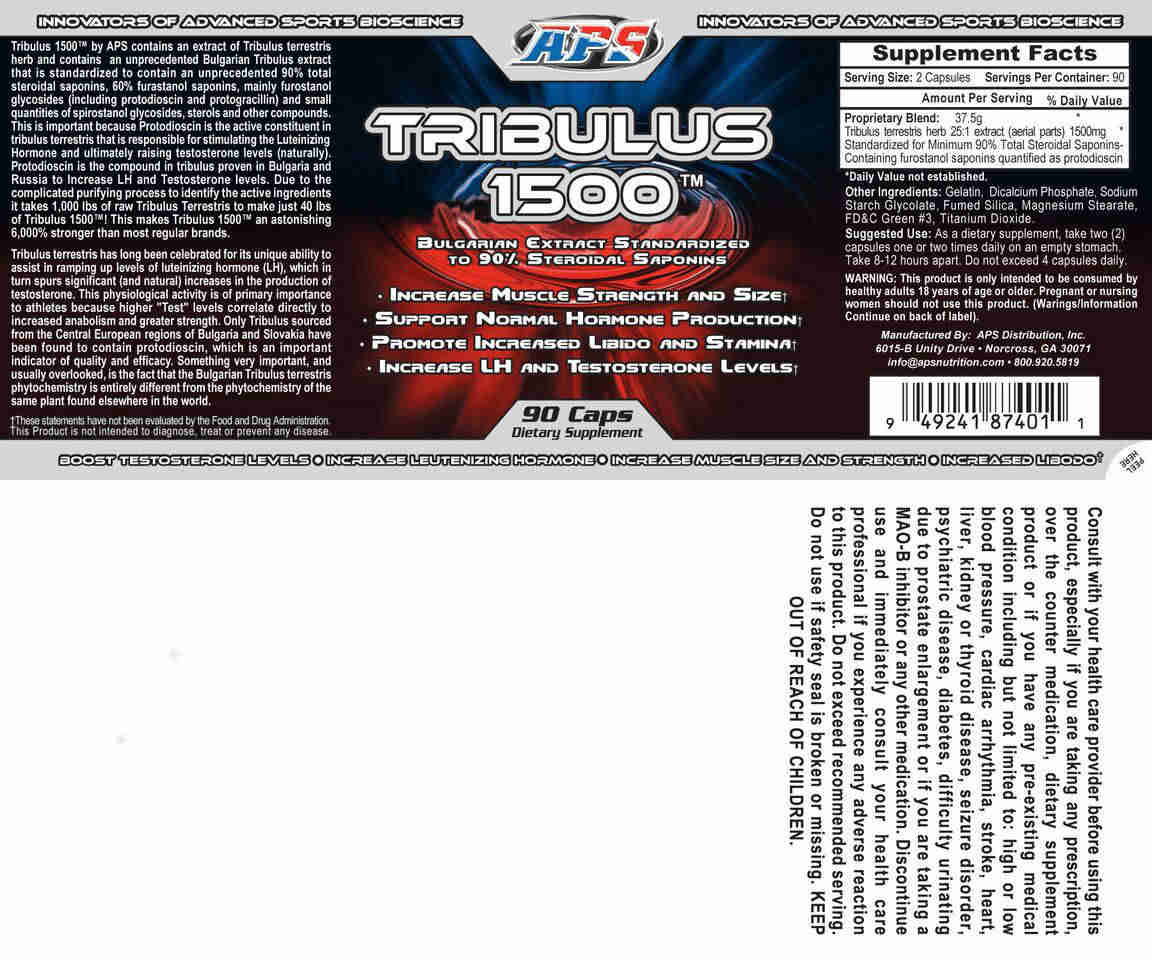 Tribulus 1500 Nutrition Facts
