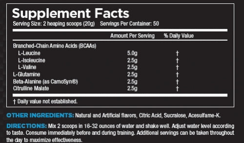 Core ABC Nutrition Facts