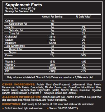 Core Pro Cinnamon Roll Nutrition Facts