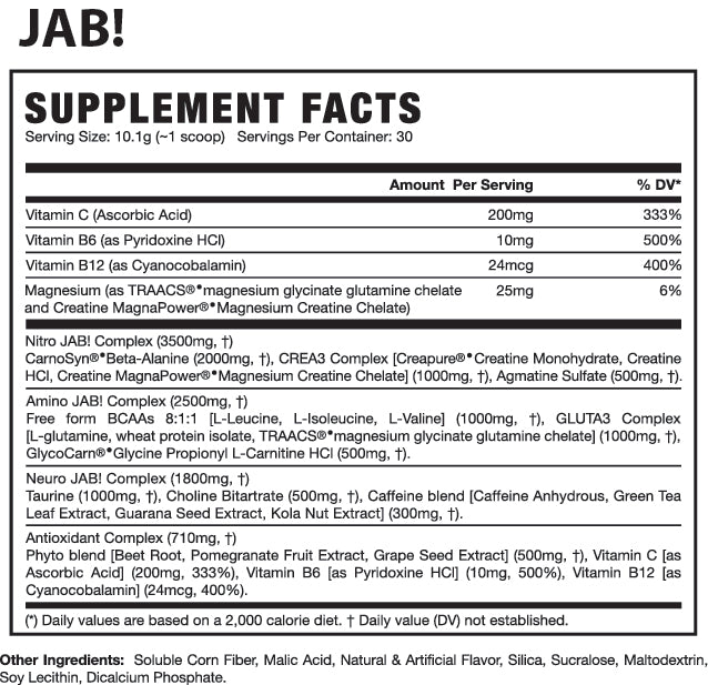 jab nutriton facts