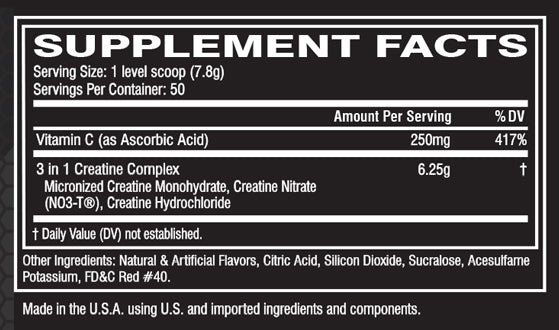 Cellucor CN3 Nutrition Facts