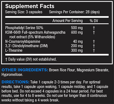 core nutritionals hard supplement facts