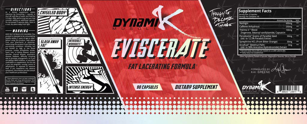 eviscerate dynamik supplement facts