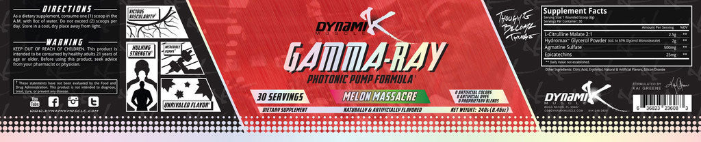 Gamma Ray Melon Massacre Supplement Facts