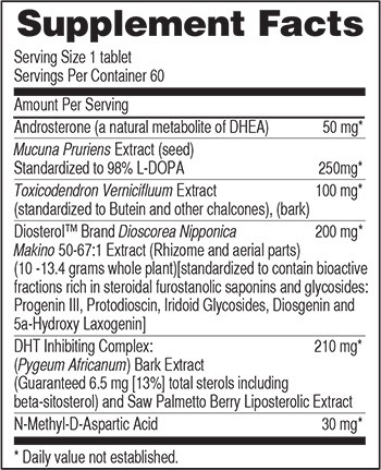 Nova-X Nutrition Facts