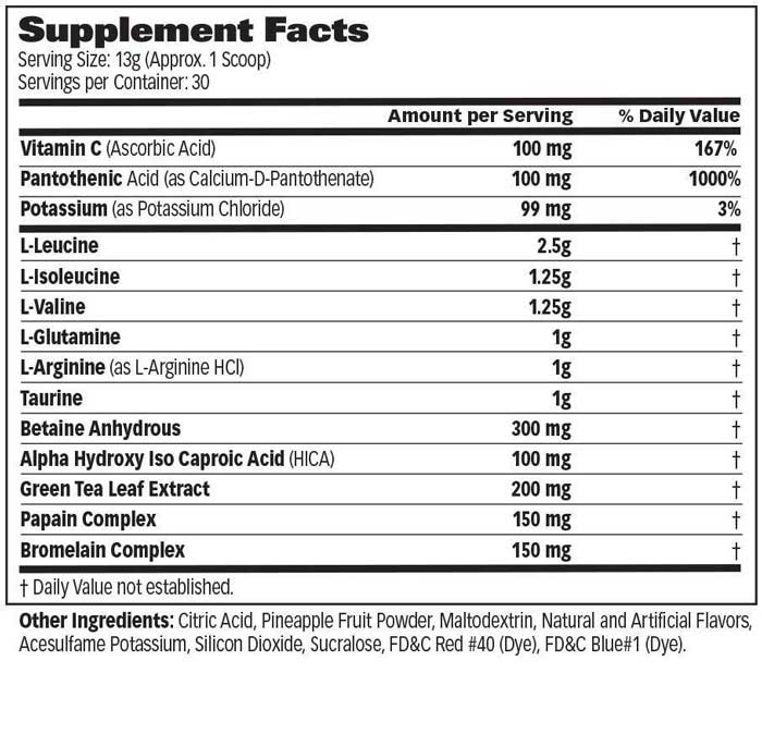 GAT Amino GT Supplement Facts