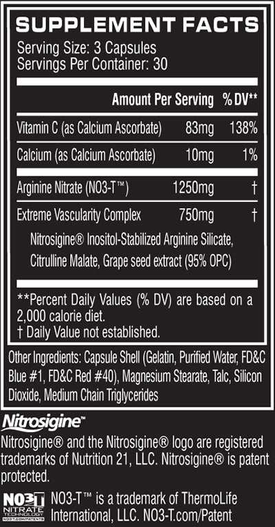 no3 chrome nutrition facts
