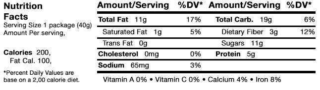 Caveman Bar Wild Blueberry Nut Nutrition Facts