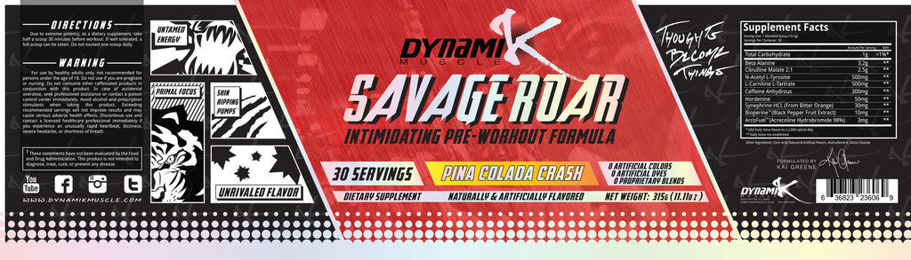 savage roar supplement facts
