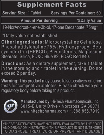 decabolin supplement facts