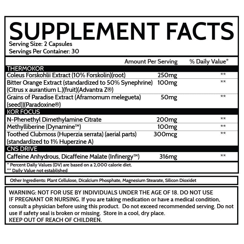 kor lipolytic supplement facts