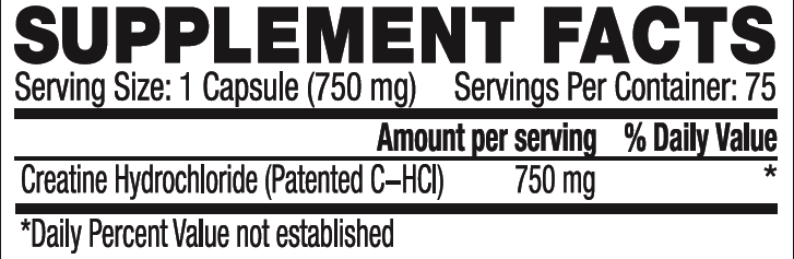 c-hcl supplement facts
