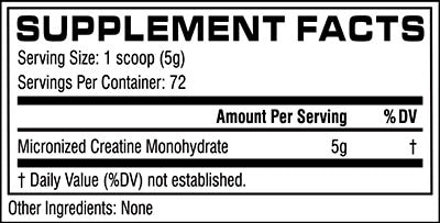 cellucor creatine supplement facts