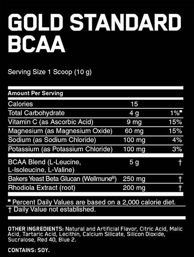 gold standard bcaa facts