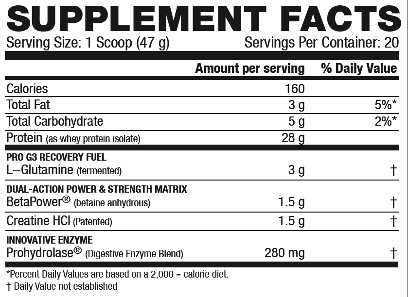 re-kaged supplement facts
