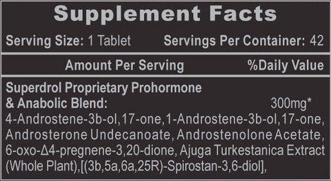hi tech superdrol supplement facts