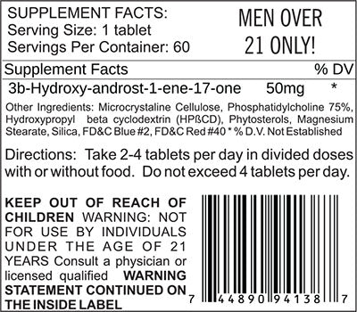 1-Andro Supplement Facts