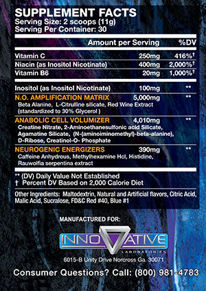 innovative labs wicked supplement facts