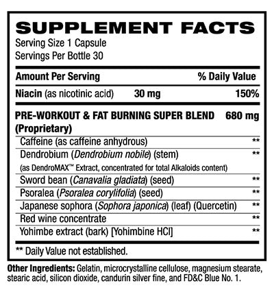 bpi b4 supplement facts