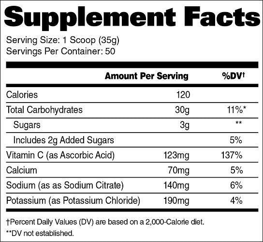GAT Carbotein Supplement Facts