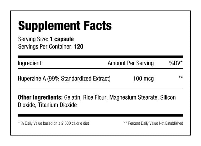 huperzine supplement facts