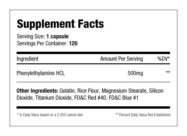pea 500 xtreme suppfacts