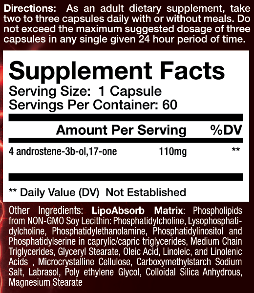 sup3r 4 supplement facts