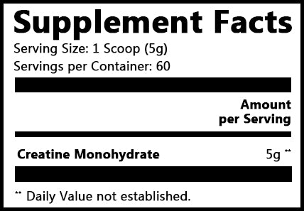Pure Creatine Supplement  Facts