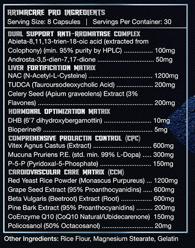ar1macare pro supplement facts