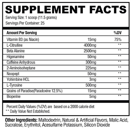 Convict Supplement Facts