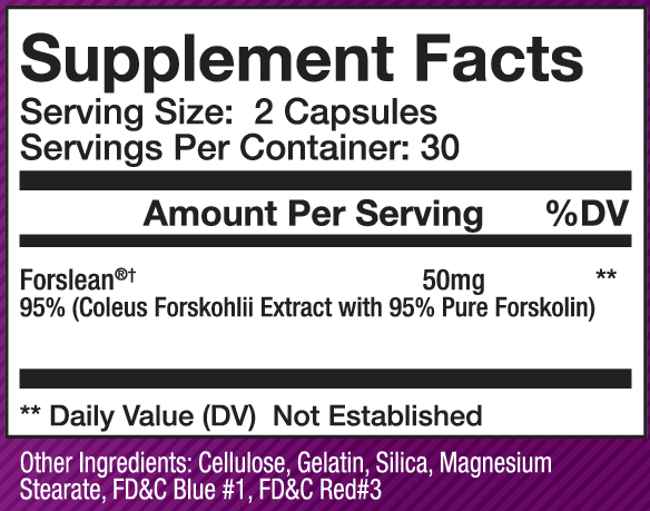 forslean supplement facts