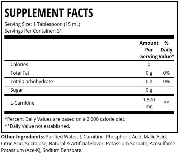 carnitine suppfacts