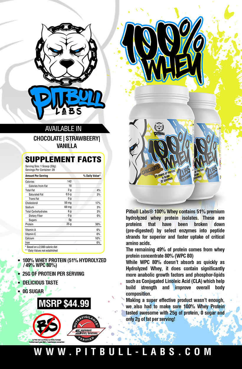 pitbull labs 100% whey description
