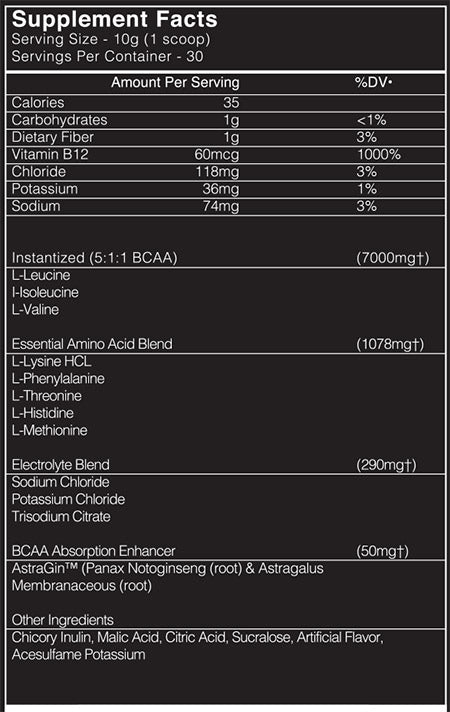 recovery amino suppfacts