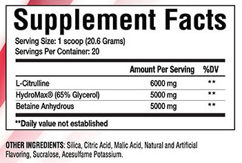 stars n pipes supplement facts