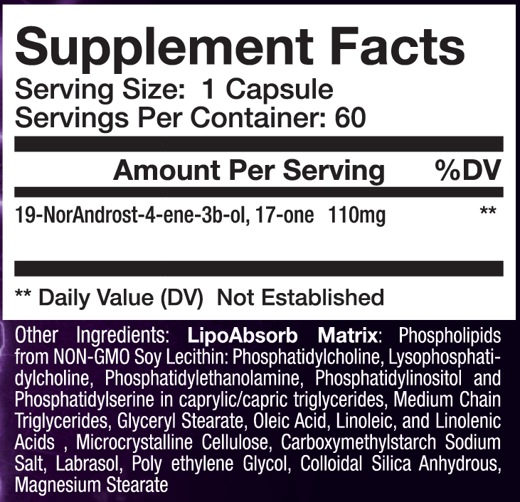 sup3r 19 supplement facts