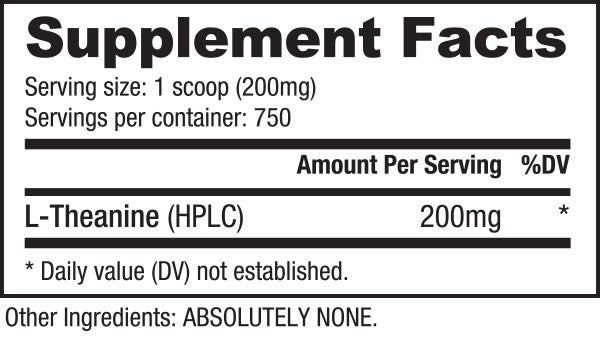 theanine powder suppfacts