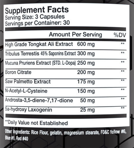 trojan pct supplement facts