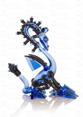 """Blue Rain Robo Dragon Vapor Bubbler"""