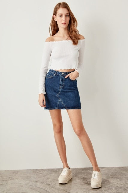 Miss Zut Miss Zut Basic Blue Denim Mini Skirts Miss Zut &CO