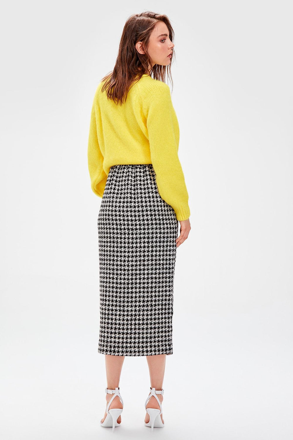 Miss Zut Miss Zut Black Button Detail Skirt Miss Zut &CO