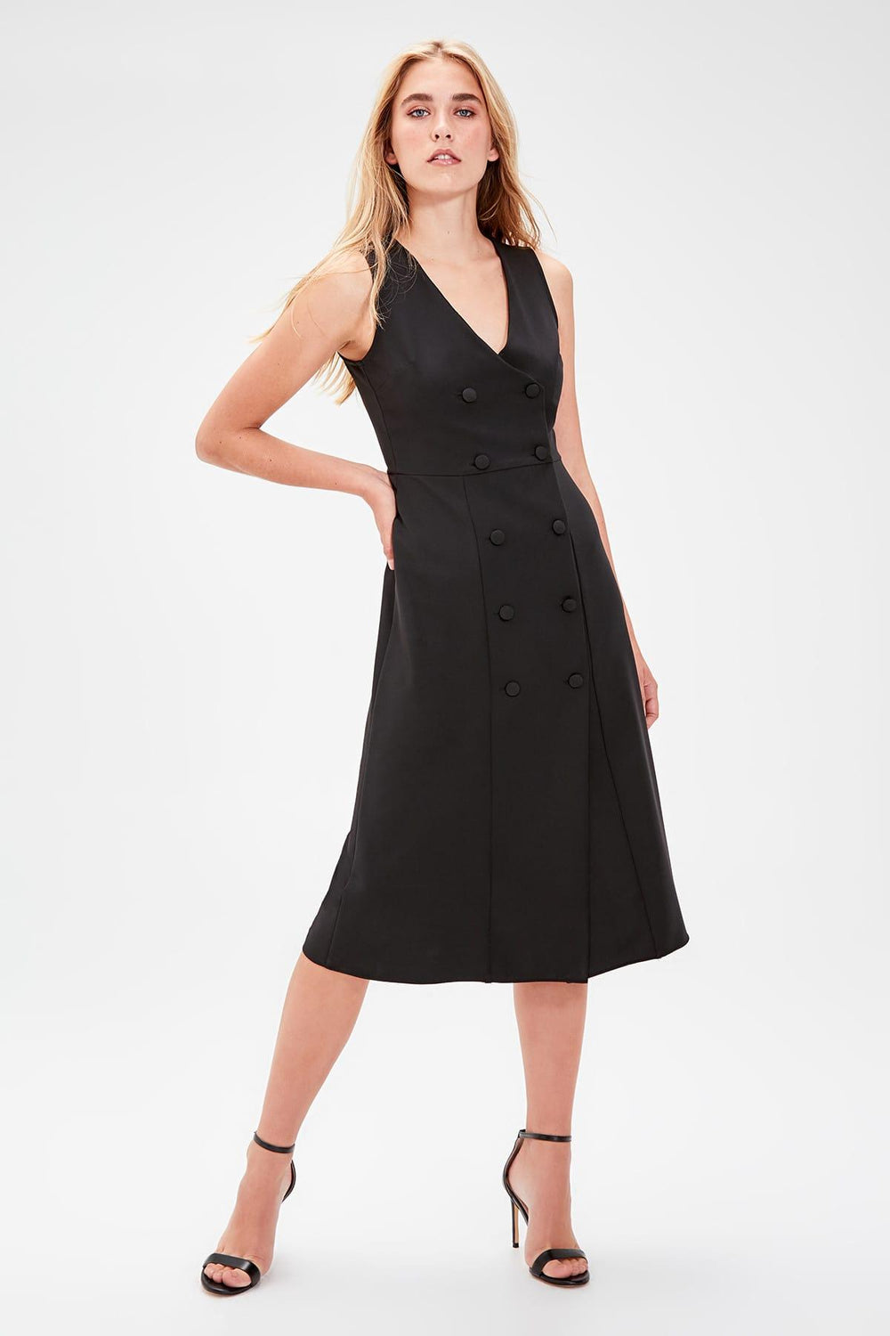 Miss Zut Miss Zut Black Button Dress Miss Zut &CO