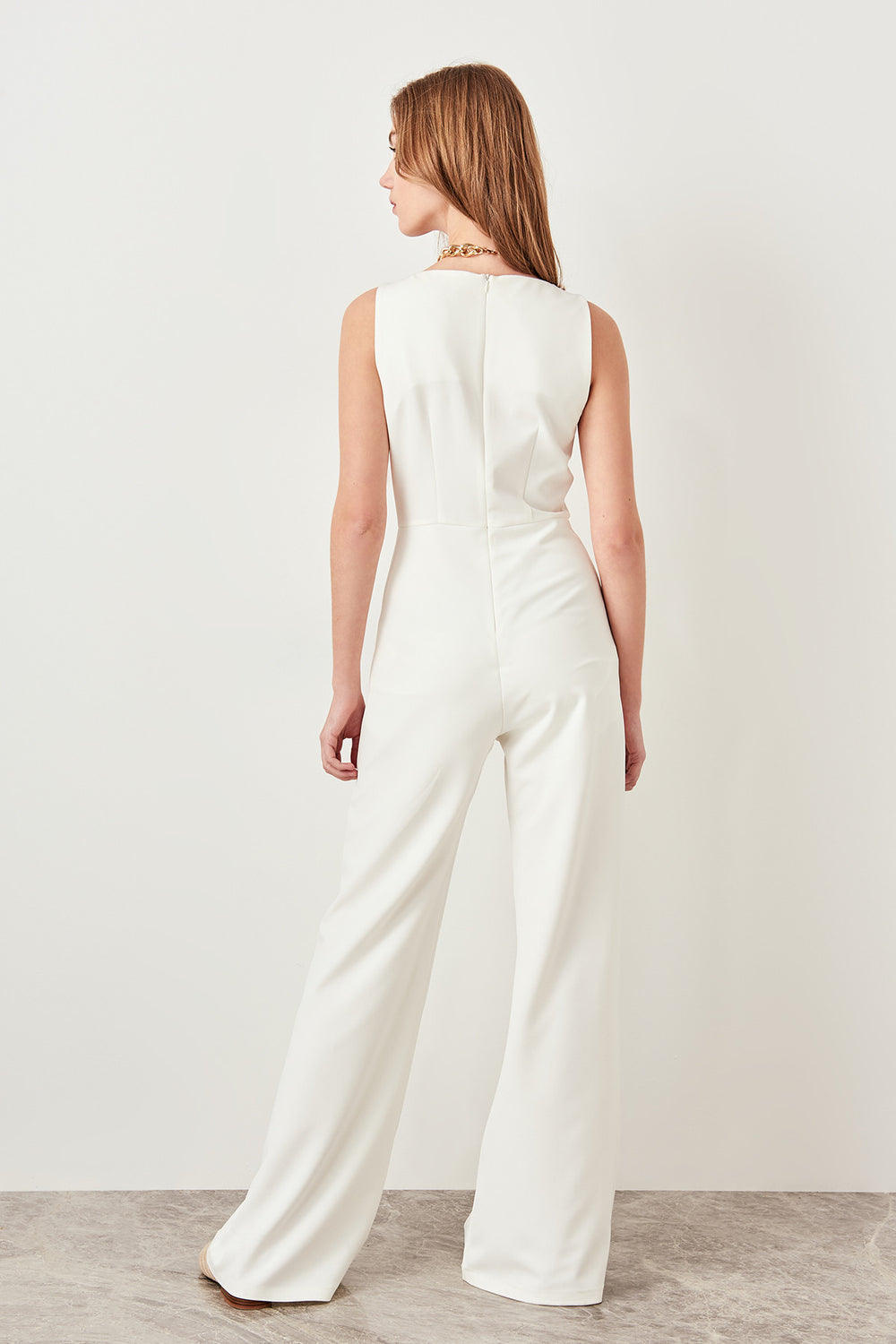Miss Zut Miss Zut White Basic Loose Hip hop Office Lady Jumpsuits Miss Zut &CO