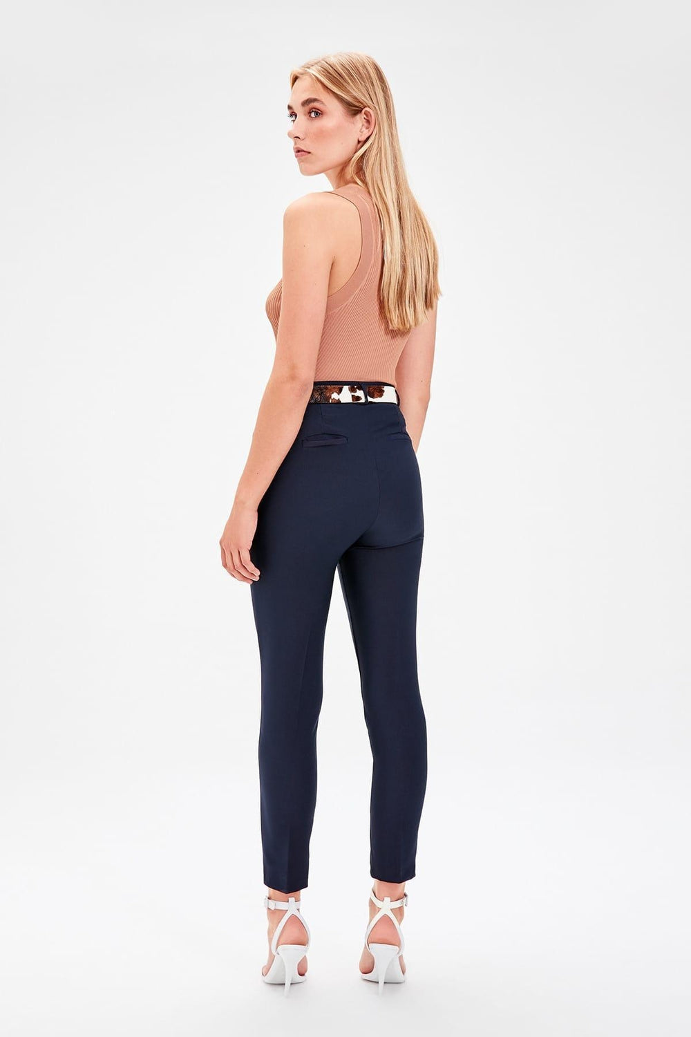Miss Zut Miss Zut Navy Blue Basic Pants Miss Zut &CO