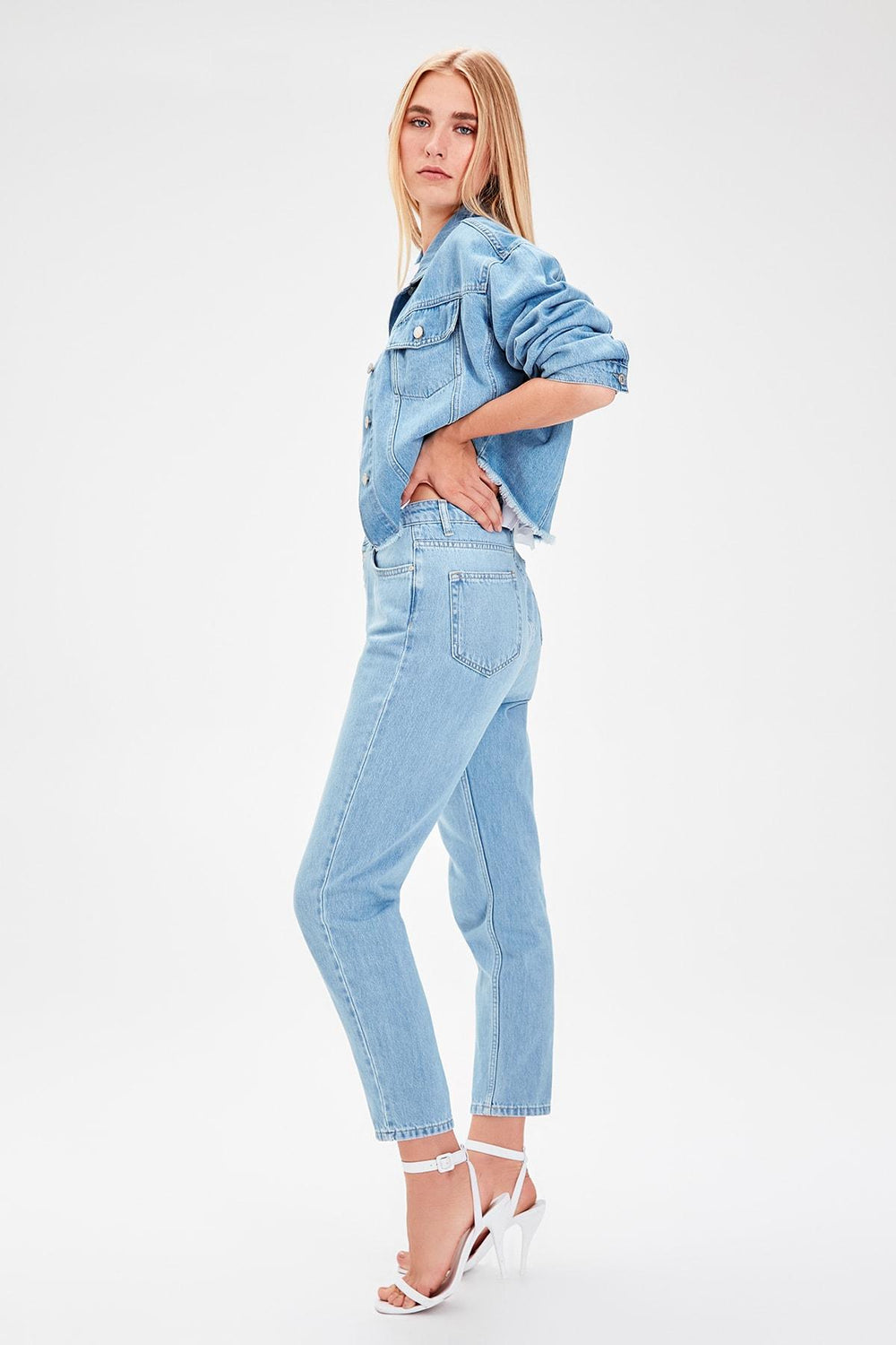Miss Zut Miss Zut Mavi Front Button High Waist Mom Jeans Miss Zut &CO