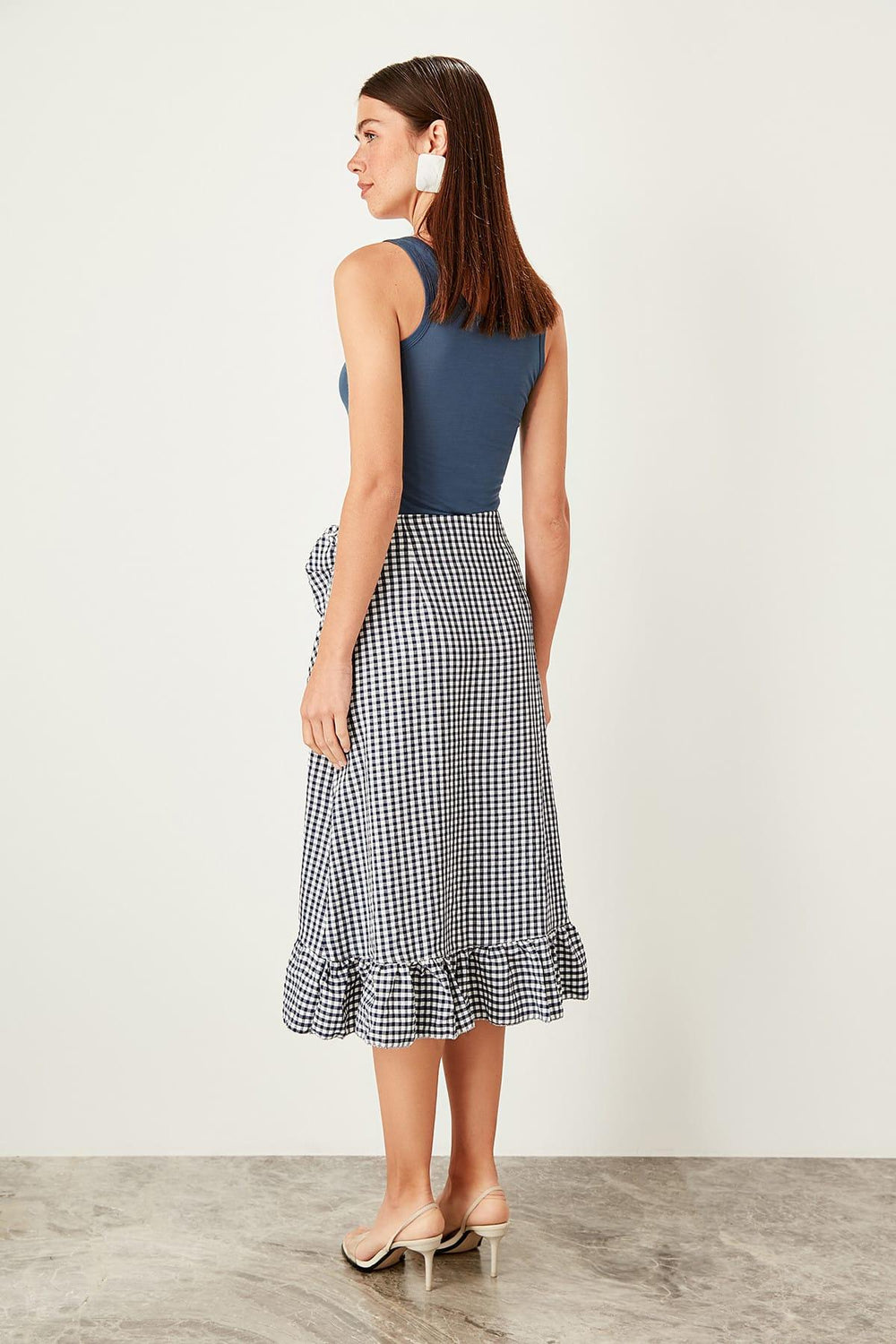 Miss Zut Miss Zut Navy Plaid Skirt Miss Zut &CO